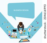 creative business and office... | Shutterstock .eps vector #204616993