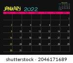 calendar 2022 year. january...   Shutterstock .eps vector #2046171689