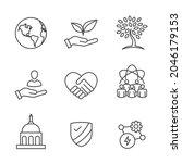 environment or environmental...   Shutterstock .eps vector #2046179153
