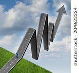 financial outlook profit road... | Shutterstock . vector #204622234
