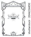 abstract luxury ornamental art... | Shutterstock .eps vector #2046226850