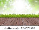 natural green and wood floor... | Shutterstock . vector #204623500