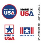 vector 'made in the usa' icon... | Shutterstock .eps vector #204626518
