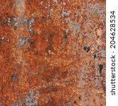 old rusty metal surface as a... | Shutterstock . vector #204628534