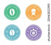 coffee labels  emblems ...   Shutterstock .eps vector #2046302390
