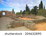 Small photo of Ruined walls of the oracle of the dead at Ephyra, Greece