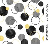 seamless circles pattern.... | Shutterstock .eps vector #2046400709