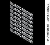 black friday banner. vector... | Shutterstock .eps vector #2046438029
