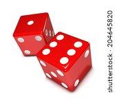 3d render of two red dice   Shutterstock . vector #204645820