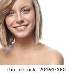closeup portrait of attractive  ...   Shutterstock . vector #204647380