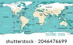world map showing tectonic... | Shutterstock .eps vector #2046476699
