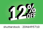 sale tag 12 percent off   3d... | Shutterstock .eps vector #2046495710
