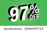 sale tag 97 percent off   3d... | Shutterstock .eps vector #2046495713