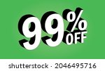 sale tag 99 percent off   3d... | Shutterstock .eps vector #2046495716