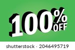 sale tag 100 percent off   3d... | Shutterstock .eps vector #2046495719