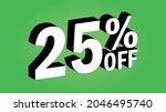 sale tag 25 percent off   3d... | Shutterstock .eps vector #2046495740