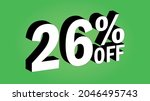 sale tag 26 percent off   3d... | Shutterstock .eps vector #2046495743