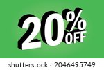 sale tag 20 percent off   3d... | Shutterstock .eps vector #2046495749