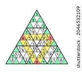 unusual triangular sudoku game... | Shutterstock .eps vector #2046532109