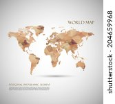 world map background in... | Shutterstock .eps vector #204659968