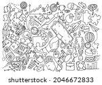 business idea and business plan....   Shutterstock .eps vector #2046672833