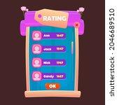 game ui pop up window rating...
