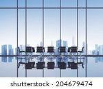 open space modern office | Shutterstock . vector #204679474