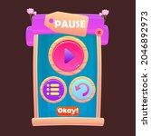 game ui pop up window pause...
