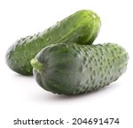 Cucumber Vegetable  Isolated O...