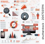 seo elements infographic design ... | Shutterstock .eps vector #204703594