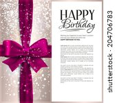 Vector Birthday Card With Pink...