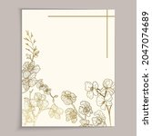 vintage greeting card template... | Shutterstock .eps vector #2047074689