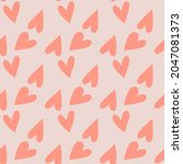 cute seamless pattern with... | Shutterstock .eps vector #2047081373