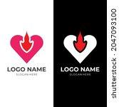 love fire logo design  love and ... | Shutterstock .eps vector #2047093100