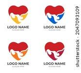 love fire logo concept  love... | Shutterstock .eps vector #2047093109