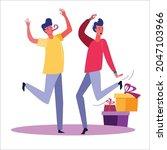 birthday party set vector... | Shutterstock .eps vector #2047103966