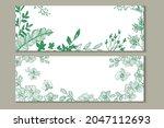 plants banner element for... | Shutterstock .eps vector #2047112693