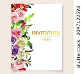 romantic wedding invitation... | Shutterstock .eps vector #2047122593