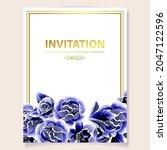 romantic wedding invitation... | Shutterstock .eps vector #2047122596