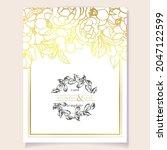 romantic wedding invitation... | Shutterstock .eps vector #2047122599