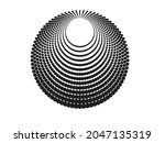 halftone dots in circle form....   Shutterstock .eps vector #2047135319