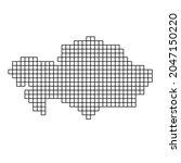 kazakhstan map silhouette from...   Shutterstock .eps vector #2047150220