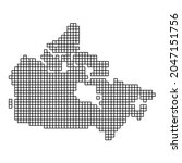 canada map silhouette from...   Shutterstock .eps vector #2047151756