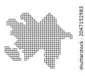 azerbaijan map silhouette from...   Shutterstock .eps vector #2047152983