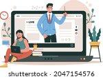 online courses and tutorials.... | Shutterstock .eps vector #2047154576