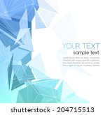 vector color abstract geometric ... | Shutterstock .eps vector #204715513