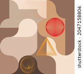 aesthetic geometric brochures . ...   Shutterstock .eps vector #2047158806