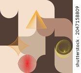 aesthetic geometric brochures . ...   Shutterstock .eps vector #2047158809