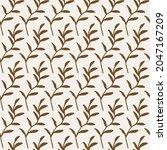 floral gold seamless pattern...   Shutterstock .eps vector #2047167209