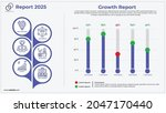 growth infographic with easy to ... | Shutterstock .eps vector #2047170440